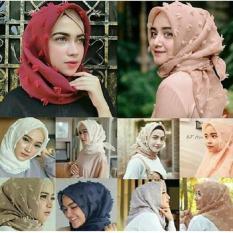 Hijab - Jilbab Feather Square Kerudung Segiempat Organza Linen Rubiah