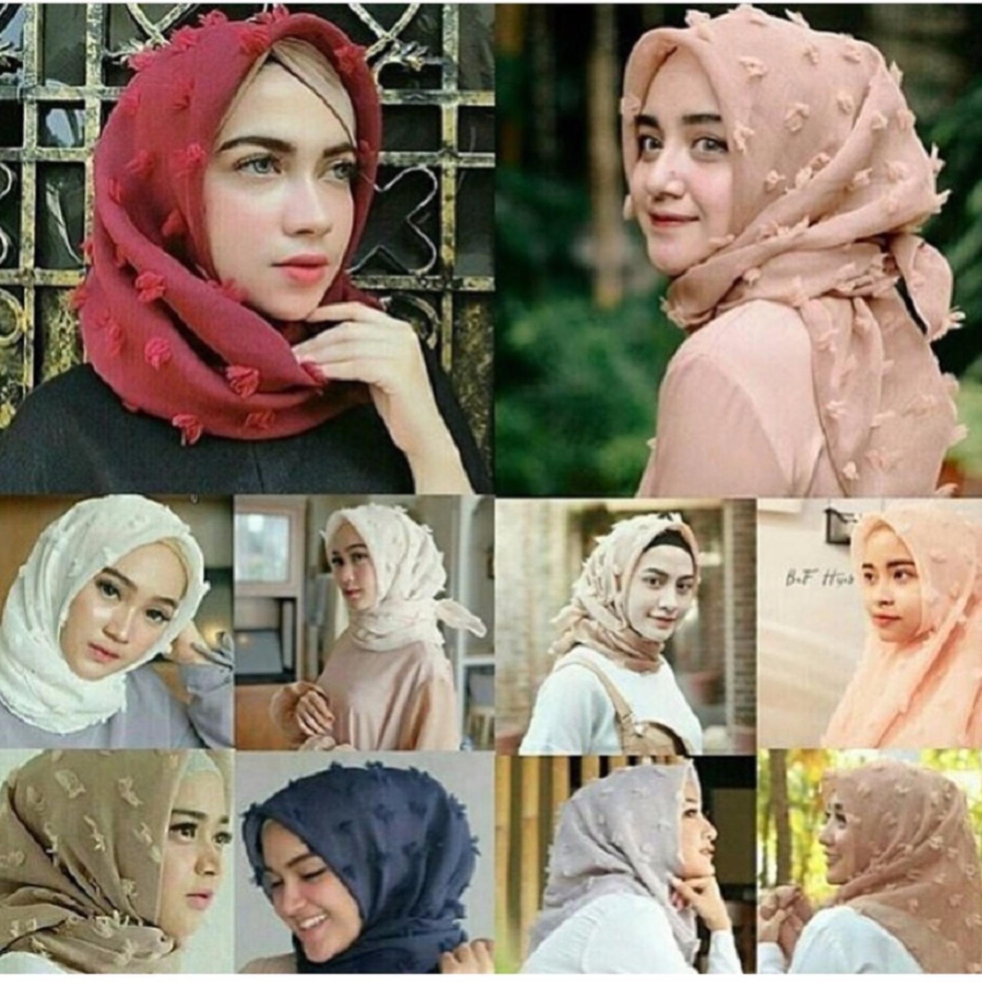 Beli Hemat Harga Diskon Jilbab Khimar Dhea Info Barang Ukuran 110x110 Cm Hijab Feather Square Kerudung Segiempat Organza Linen Rubiah