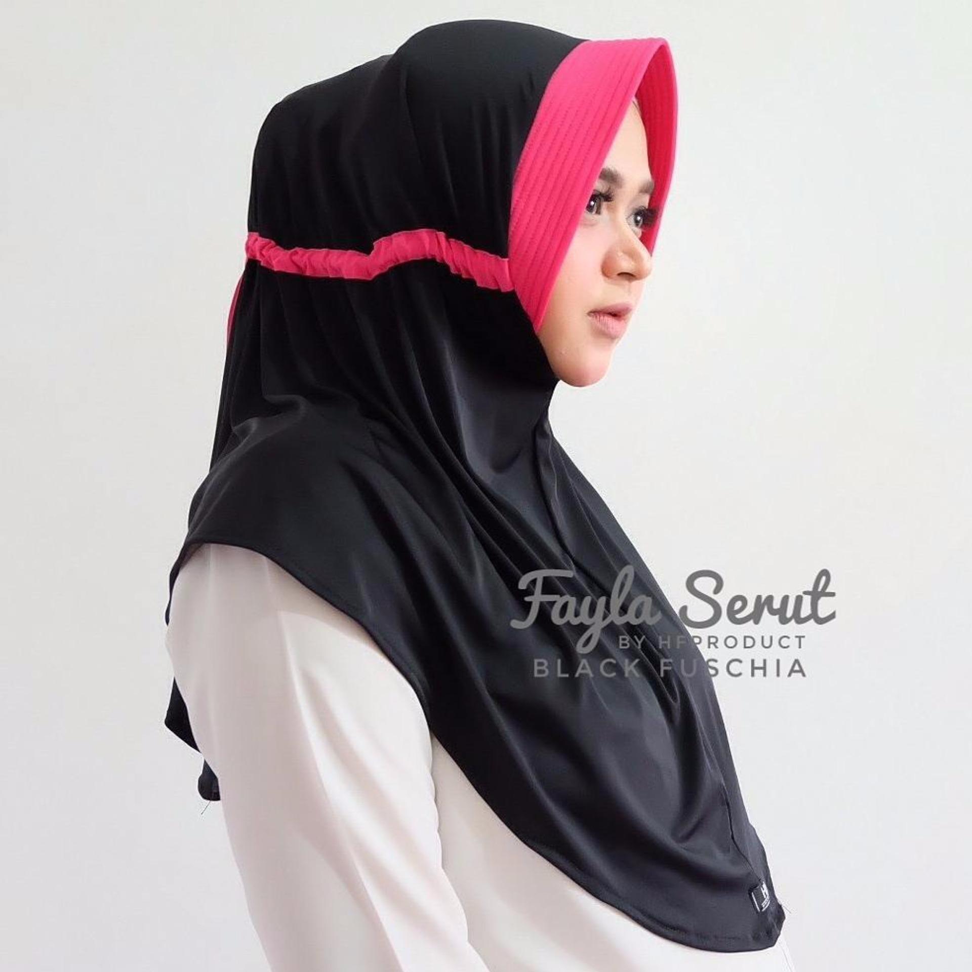 Hijab Jilbab Instant Fayla Serut