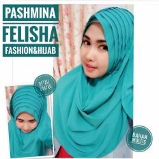Hijab Jilbab kerudung pashmina Felishapashmina instant pastan Bahan wolfis UMPAK Polos green