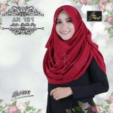 Hijab Jilbab kerudung pashmina instant pastan AR RAFI 131 Maroon