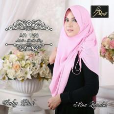 Hijab Jilbab kerudung pashmina instant pastan AR RAFI 139 Baby Pink