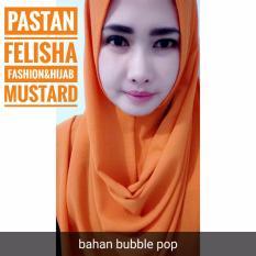 Hijab Jilbab kerudung pashmina instant pastan Felisha Mustard polos