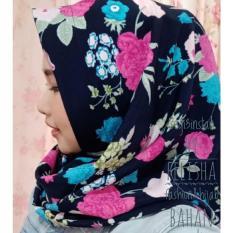 Model Hijab Jilbab Kerudung Segi3 Instant Felisha Bahan Monalisa Motif Terbaru