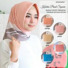 Perbandingan Harga Hijab Kananta Jilbab Segi Empat Motif Hijab Motif Bunga Kain Velvet Premium Square Kubika Di Indonesia