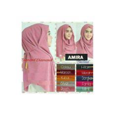 Hijab Kerudung Jilbab Pastan Pashmina Instan Amira Tali Tassel Dusty Pink
