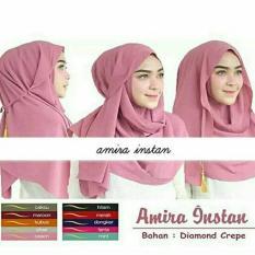 Katalog Hijab Kerudung Jilbab Pastan Pashmina Instan Amira Tali Tassel Dusty Pink Terbaru