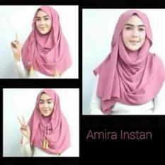 Harga Hijab Kerudung Jilbab Pastan Pasmina Pashmina Instan Amira Tali Tassel Original