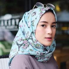 Hijab - Kerudung Segi Empat - Cotton Japan - Paris Blue / Jilbab