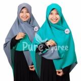 Harga Hijab Kerudung Segi Empat Hijab Syari Bolak Balik Abu Toska Branded