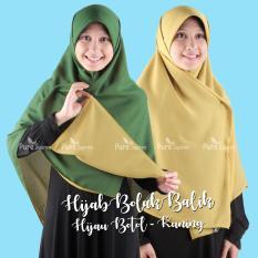 Hijab - Kerudung Segi Empat - Hijab Syari Bolak Balik Pure Syaree Hijau Botol Kuning Kunyit 13