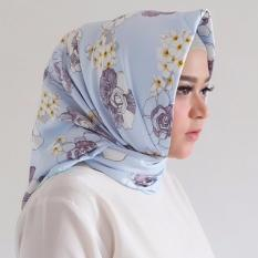Hijab - Kerudung Segi Empat - Maxmara Silk - Diandra Blue / Jilbab