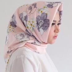 Hijab - Kerudung Segi Empat - Maxmara Silk - Diandra Pink / Jilbab