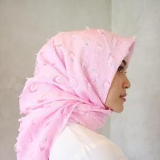 Hijab - Kerudung Segi Empat - Organza Import - Ruby Merak / Jilbab