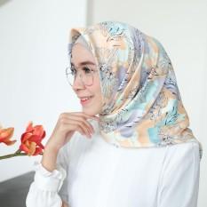 Hijab - Kerudung Segi Empat - Velvet Silk - Blossom / Jilbab