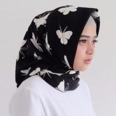 Hijab - Kerudung Segi Empat - WoolPeach - Butterfly Purple / Jilbab