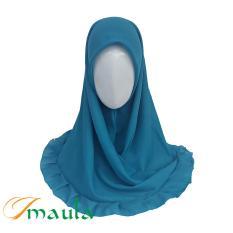 Hijab Maula Jilbab Kerudung Segiempat Rempel Katun - Turkish