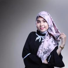 Jual Hijab Maxmara Premium Coral Pink Flower Branded