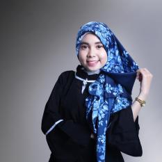 Spesifikasi Hijab Maxmara Premium White Grey Flower Paling Bagus