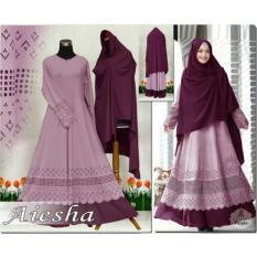 Hijab Modern Aiesha Syari Set 2in1 Dress Busui Dan Jilbab Khimar NEW Maxi Busana Muslim Baju Abaya Gamis Wanita Cantik Trendy Terbaru Kekinian
