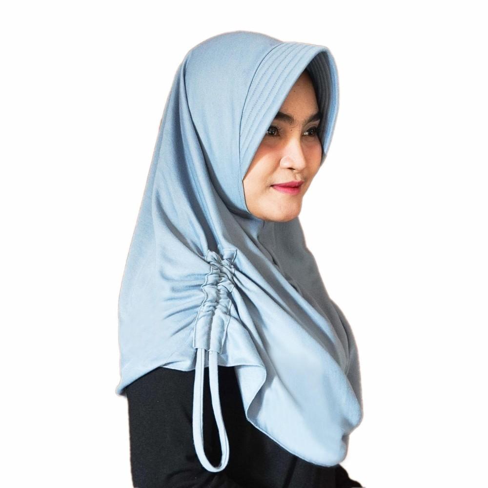 ... Anak Bayi murah ... Source ... Hijab Najwa PAD/PED Serut Jilbab Instan Kerudung Khimar Instan - Abu .