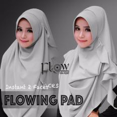 Hijab Pashmina Instan Flowing Pad-Abu