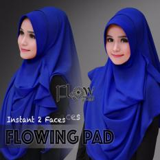 Hijab Pashmina Instan Flowing Pad-Biru
