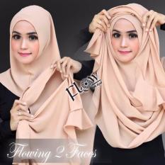 Hijab Pashmina Instan Flowing Pad-Coklat Muda