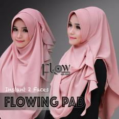 Hijab Pashmina Instan Flowing Pad-Dusty Pink