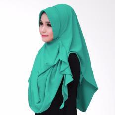 Hijab Pashmina Instan Flowing Pad-Hijau Tosca