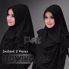 Hijab Pashmina Instan Flowing Pad-Hitam