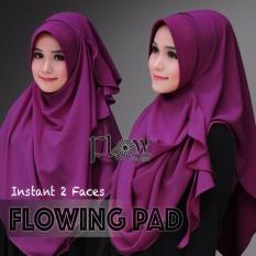 Hijab Pashmina Instan Flowing Pad-Ungu