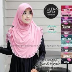 Hijab Quail Murah - Zuleka curly