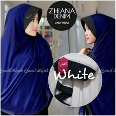 Harga Hijab Quail Zhiana Denim White Yang Murah