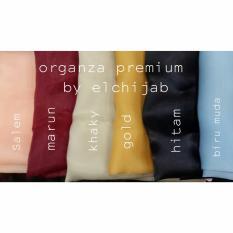 Hijab Segi 4 Organza Premium (Warna tergantung stok sesuai foto) Harga dijamin murah! Kualitas Terjamin!