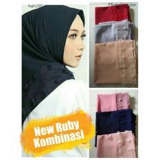 Review Terbaik Hijab Segi Empat Linen Rubiah Kombinasi Linen Ruby