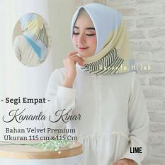 Hijab Segi Empat Motif Abstrak - Bahan Velvet Premium / Maxmara Kananta Kinar