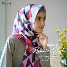 Hijab Segi Empat Motif Abstrak Warna - Kain Velvet Premium / Maxmara Halus Tebal Kananta Kayla