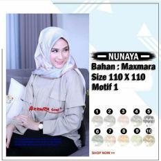 Hijab Segi Empat Nunaya 1 ORIGINAL BY AZZURA SCARF Jilbab kerudung Motif