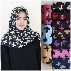 Hijab - Kerudung Segi Empat - WoolPeach - Butterfly Purple / JilbabIDR50000. Rp 50.000