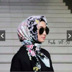 Beli Hijab Segiempat Motif Wolfis 110X110 Baru