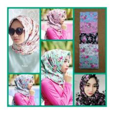 Hijab Segiempat Shabby Chic - Hijau