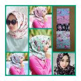 Spesifikasi Hijab Segiempat Shabby Chic Putih Hijab