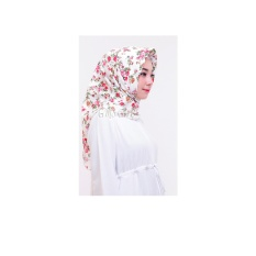 Hijab Segiempat Shabby Chic - Putih