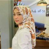 Diskon Hijab Segiempat Square Wolfis 110X110 Hand Made