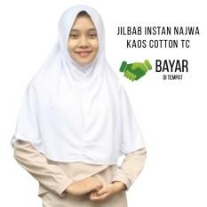 Hijab Sekolah Kerudung Jilbab Hijab Murah Khimar Najwa Instan Murah Grosir Jilbab - Putih