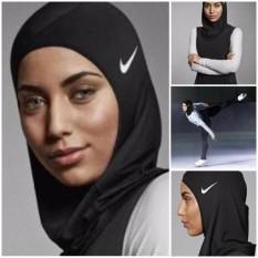 Hijab Sport / Hijab Instant Berlogo