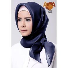 Hijab Square / Hijab Kerudung Syar'i Organza - Navy
