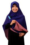 Review Hijab Kerudung Segi Empat Hijab Syari Bolak Balik Pure Syaree Biru Elektrik Dusty Pink Jawa Barat