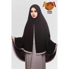 Review Terbaik Hijab Syari Hijab Jumbo Hijab Khimar Amora List Black